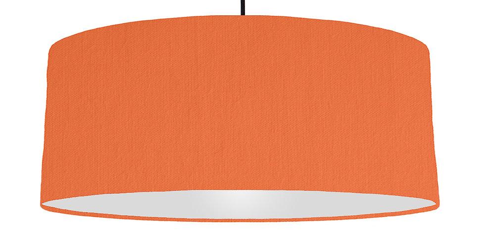 Orange & Light Grey Lampshade - 70cm Wide