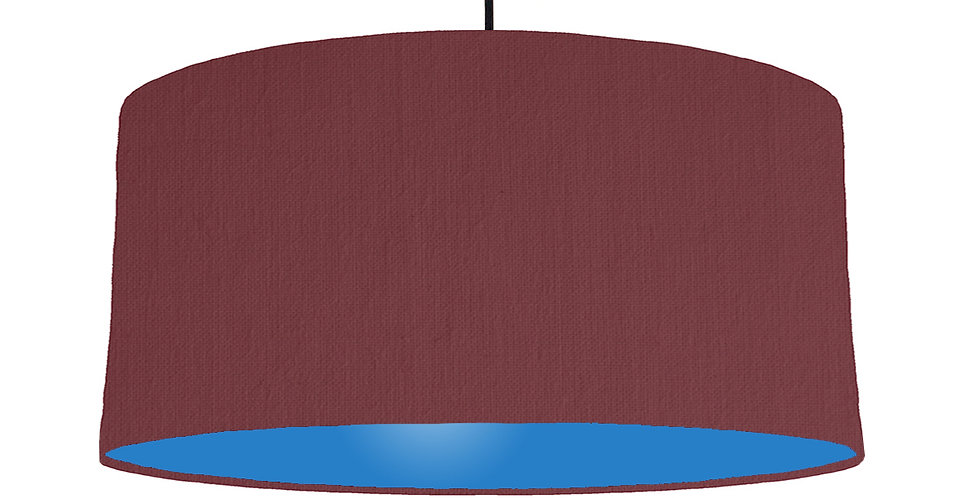 Wine Red & Bright Blue Lampshade - 60cm Wide