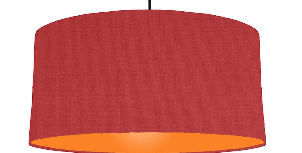 Red & Orange Lampshade - 60cm Wide