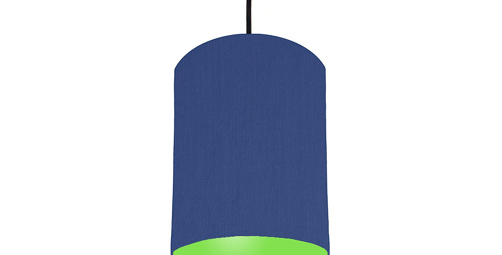 Royal Blue & Lime Green Lampshade - 15cm Wide