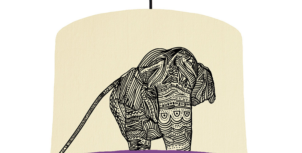 Elephant - Natural & Purple