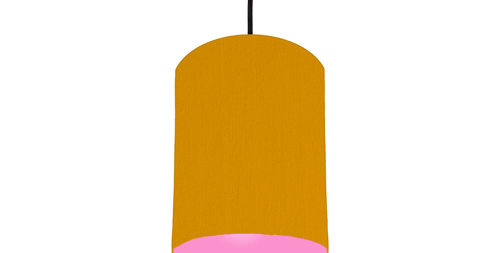 Mustard & Pink Lampshade - 15cm Wide
