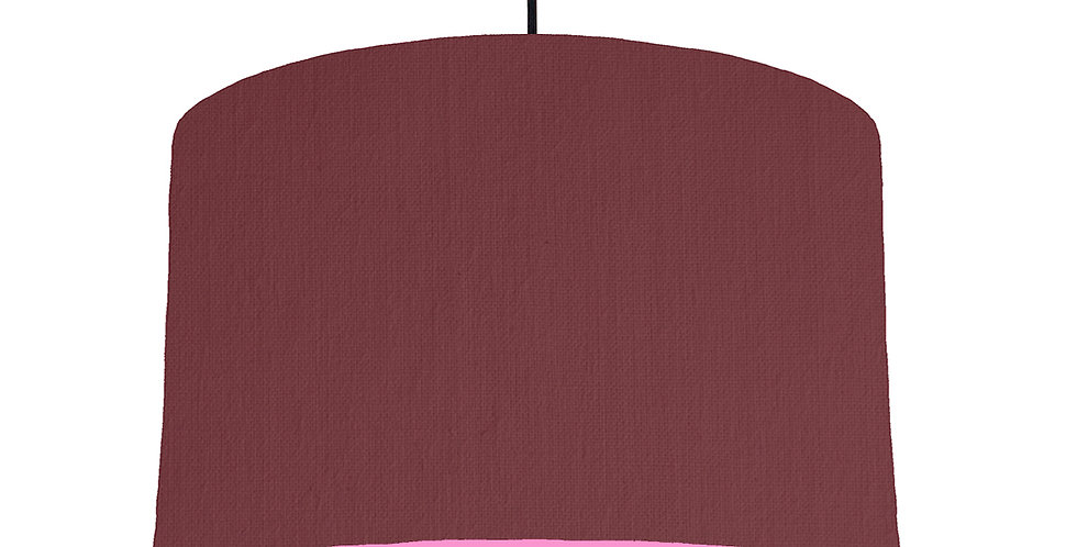 Wine Red & Pink Lampshade - 40cm Wide