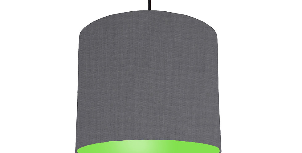 Dark Grey & Lime Green Lampshade - 25cm Wide
