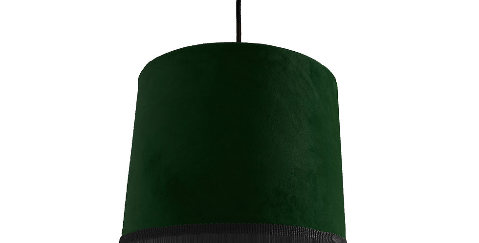Forest green Velvet Lampshade With Black Trim