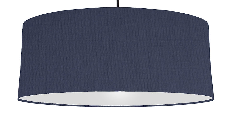 Navy Blue & Light Grey Lampshade - 70cm Wide