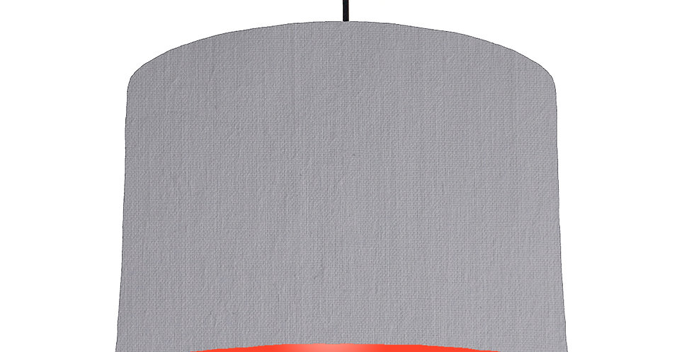 Light Grey & Poppy Red Lampshade - 30cm Wide