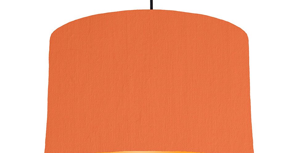 Orange & Orange Lampshade - 40cm Wide