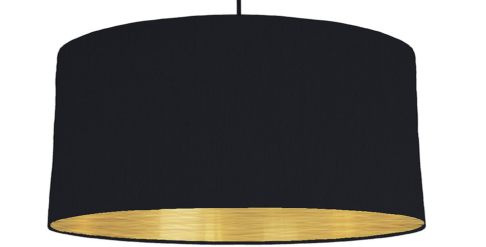 Black & Brushed Gold Lampshade - 60cm Wide