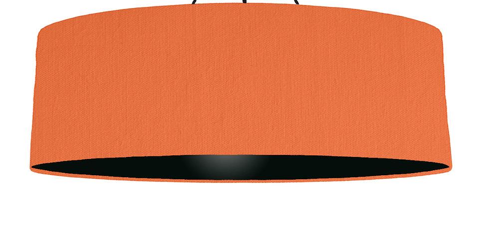 Orange & Black Lampshade - 100cm Wide