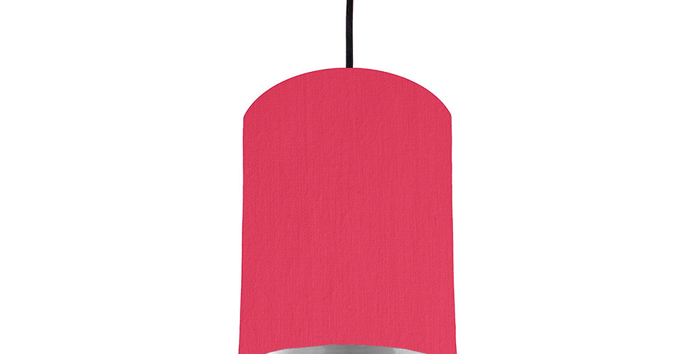 Cerise & Silver Mirrored Lampshade - 15cm Wide