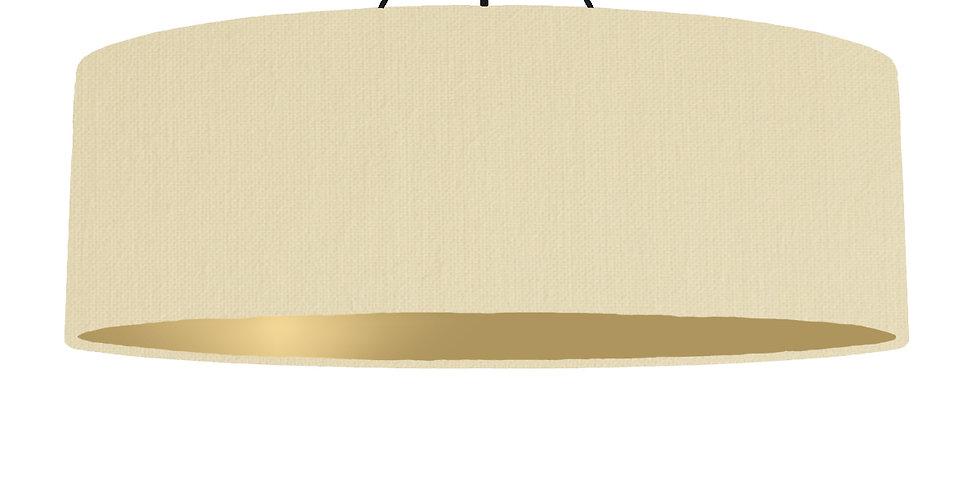 Natural & Gold Matt Lampshade - 100cm Wide