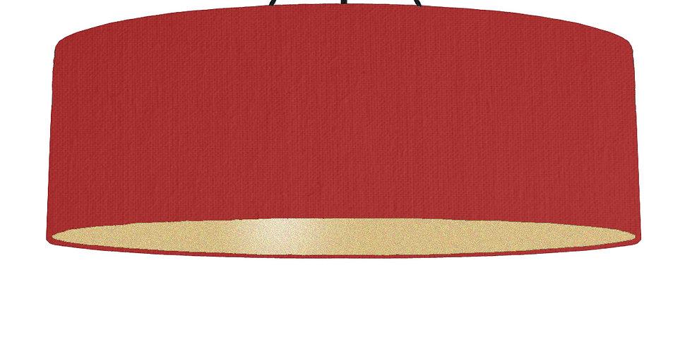 Red & Gold Matt Lampshade - 100cm Wide