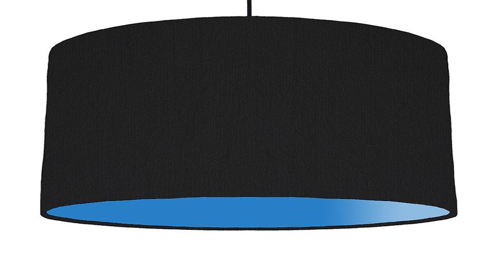 Black & Bright Blue Lampshade - 70cm Wide