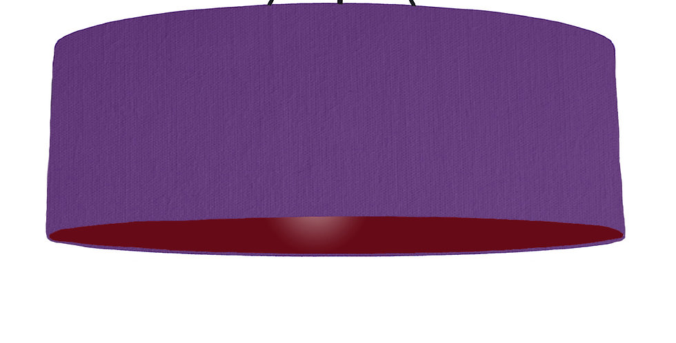 Violet & Burgundy Lampshade - 100cm Wide