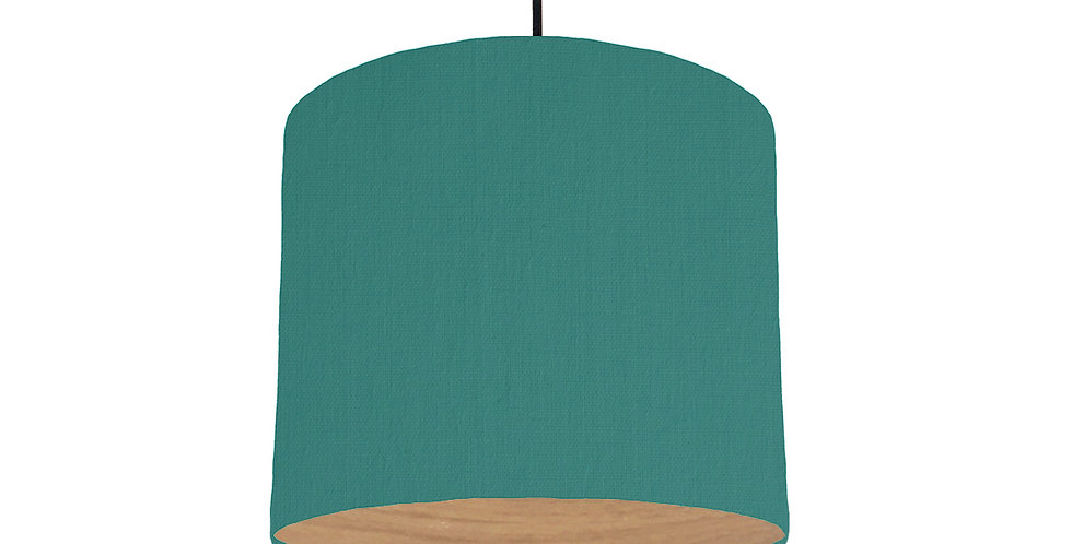 Jade & Wood Lined Lampshade - 25cm Wide