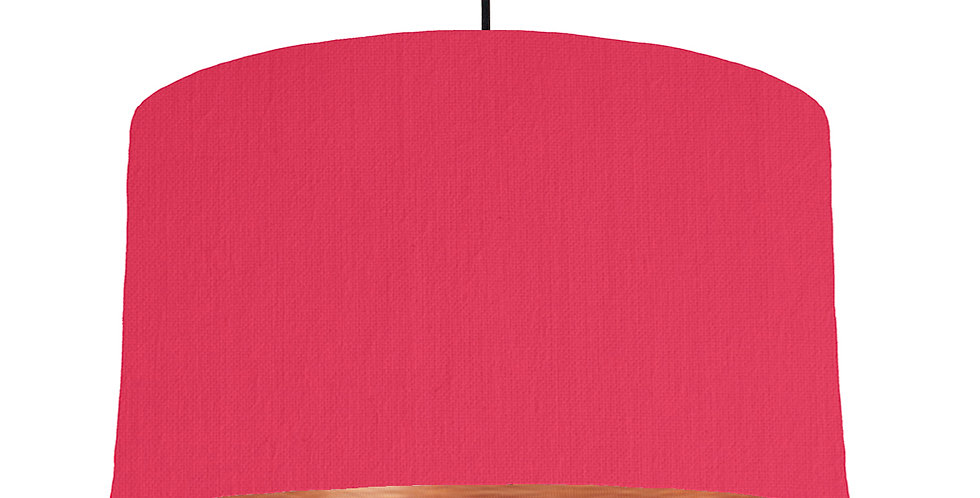 Cerise & Brushed Copper Lampshade - 50cm Wide