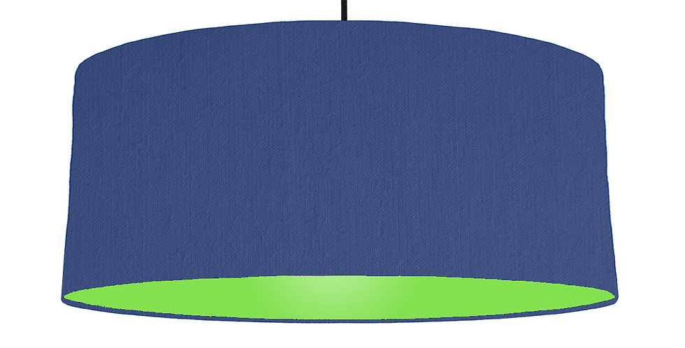 Royal Blue & Lime Green Lampshade - 70cm Wide