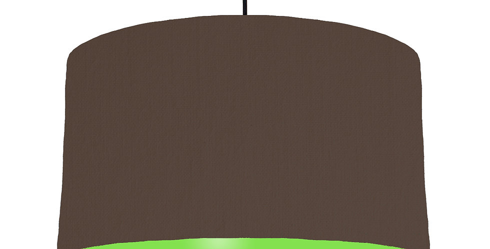 Brown & Lime Green Lampshade - 50cm Wide