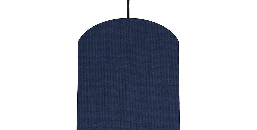 Navy Blue & Mustard Lampshade - 20cm Wide