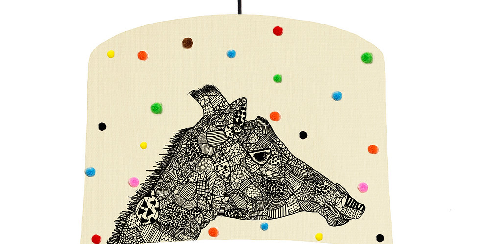 Giraffe Pom Pom Lampshade - White Lining