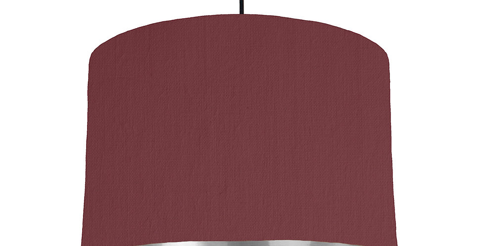 Wine Red & Silver Mirrored Lampshade - 30cm Wide