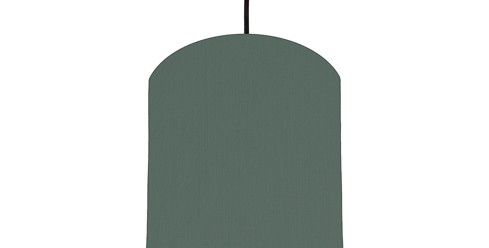 Bottle Green & Silver Mirrored Lampshade - 20cm Wide