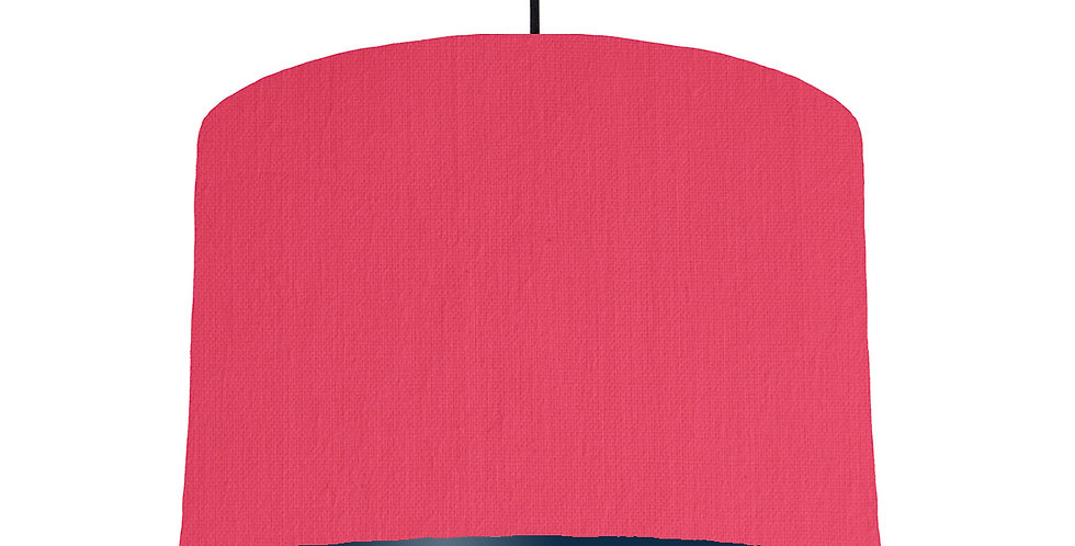 Cerise & Navy Lampshade - 30cm Wide