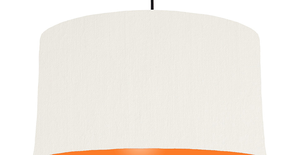White & Orange Lampshade - 50cm Wide