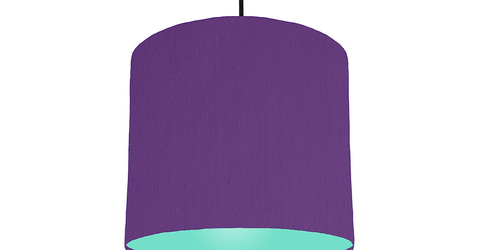 Violet & Mint Lampshade - 25cm Wide