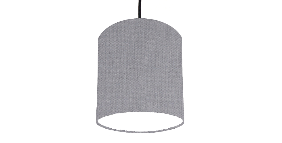 Light Grey & White        Lampshade - 15cm Wide