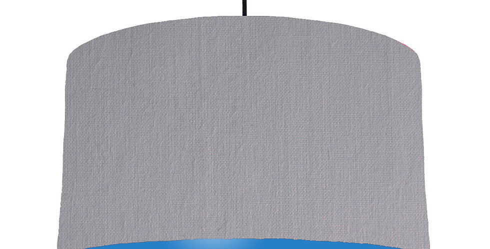 Light Grey & Bright Blue Lampshade - 50cm Wide