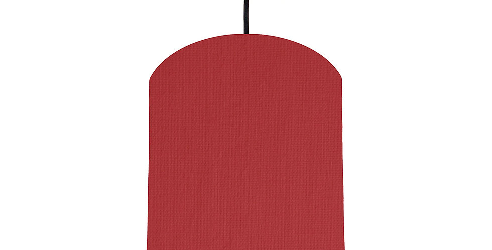 Red & Poppy Red Lampshade - 20cm Wide