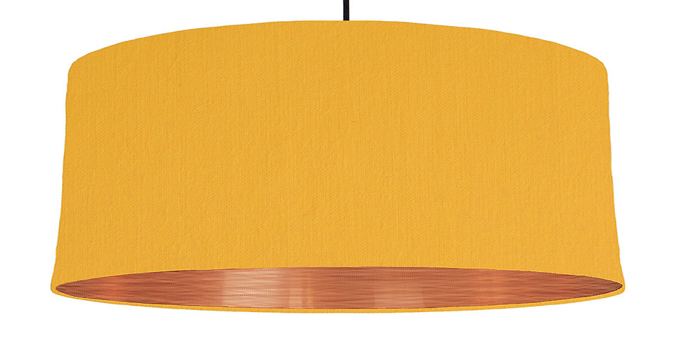 Sunshine & Brushed Copper Lampshade - 70cm Wide