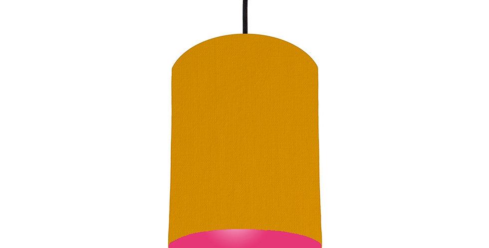 Mustard & Magenta Pink Lampshade - 15cm Wide