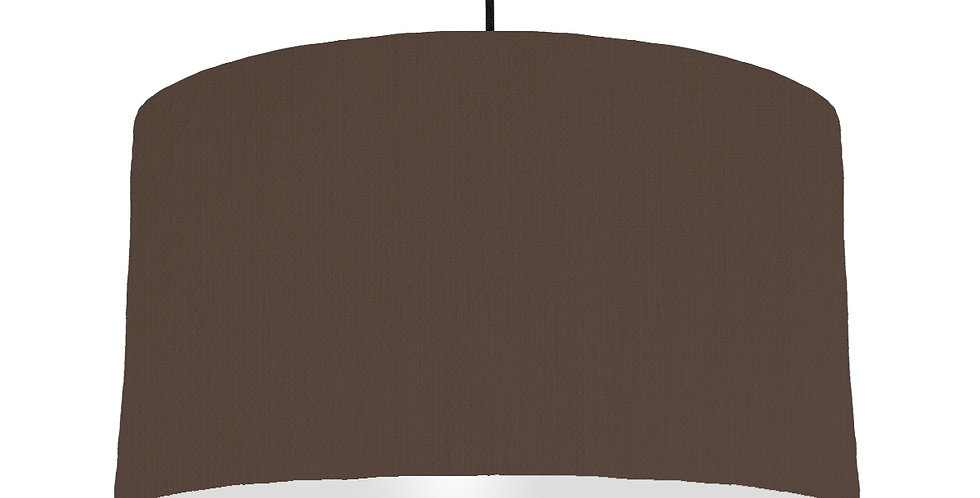 Brown & Light Grey Lampshade - 50cm Wide