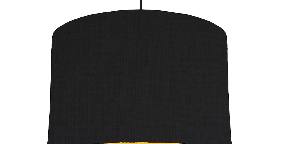 Black & Butter Yellow Lampshade - 30cm Wide