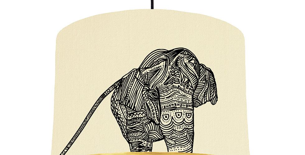 Elephant - Natural & Brushed Gold
