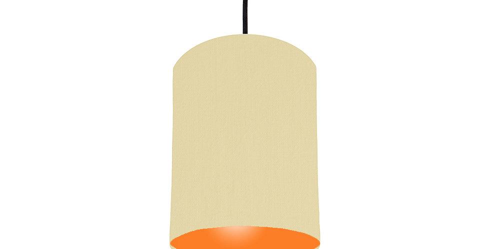 Natural & Orange Lampshade - 15cm Wide