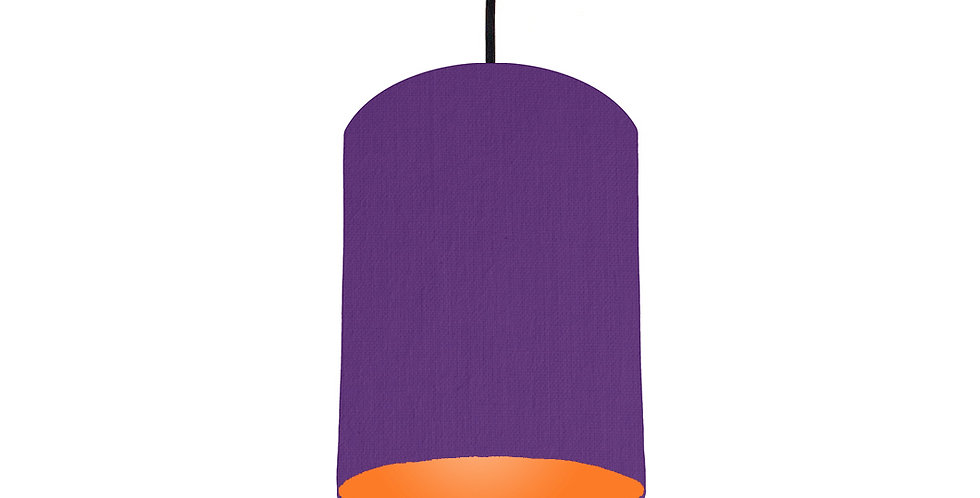 Violet & Orange Lampshade - 15cm Wide