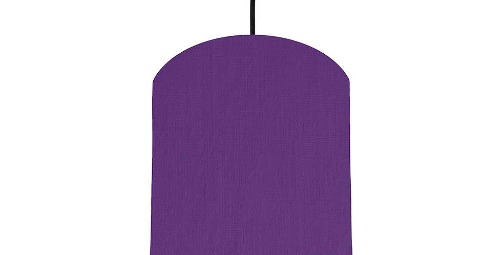 Violet & Silver Mirrored Lampshade - 20cm Wide
