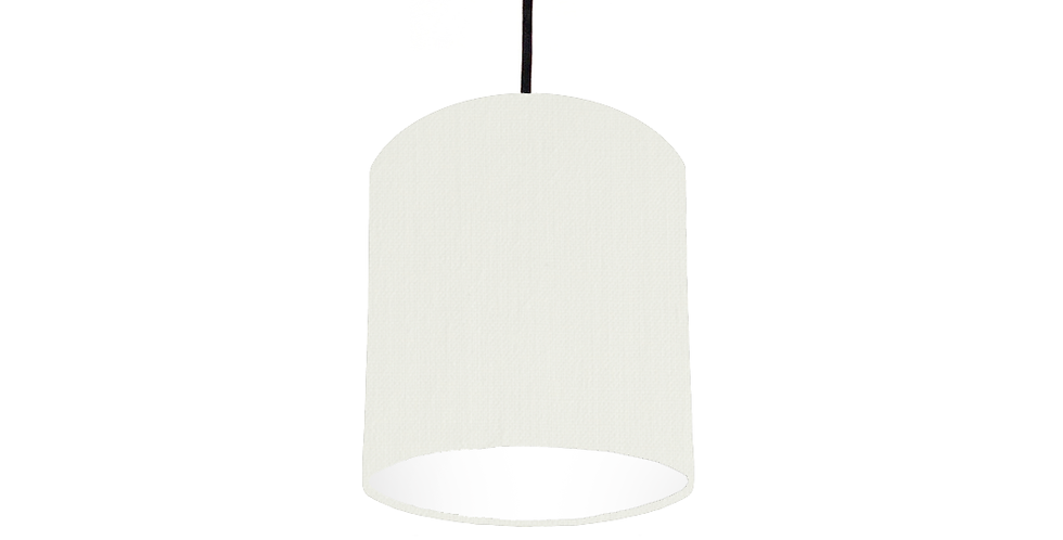 White & White Lampshade - 15cm Wide