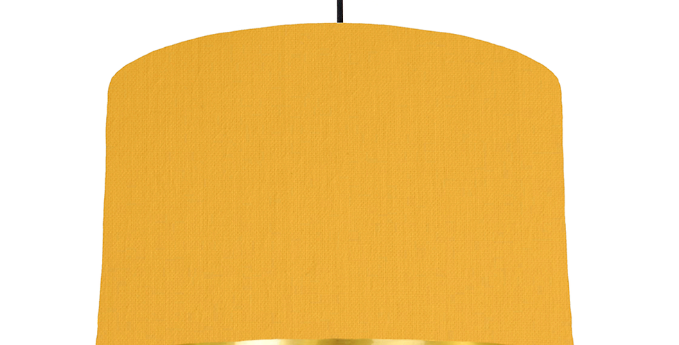 Sunshine & Gold Mirrored Lampshade - 40cm Wide