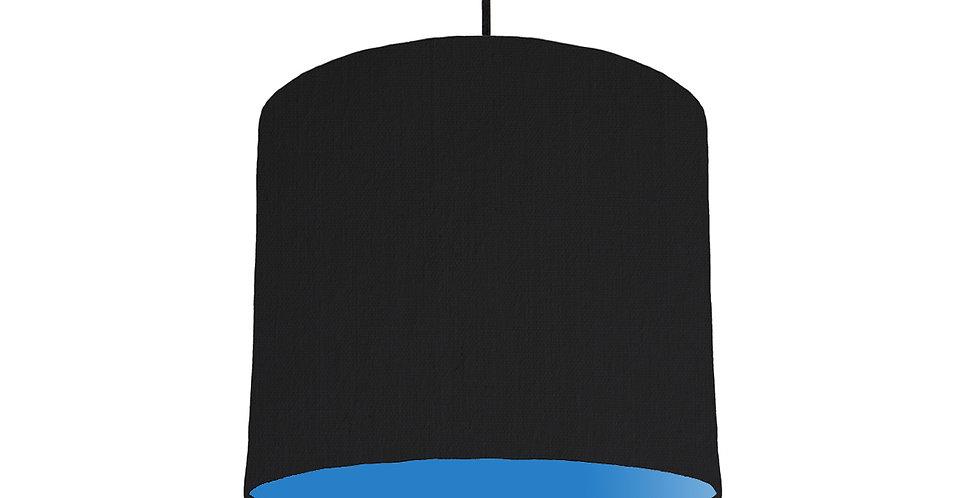 Black & Bright Blue Lampshade - 25cm Wide
