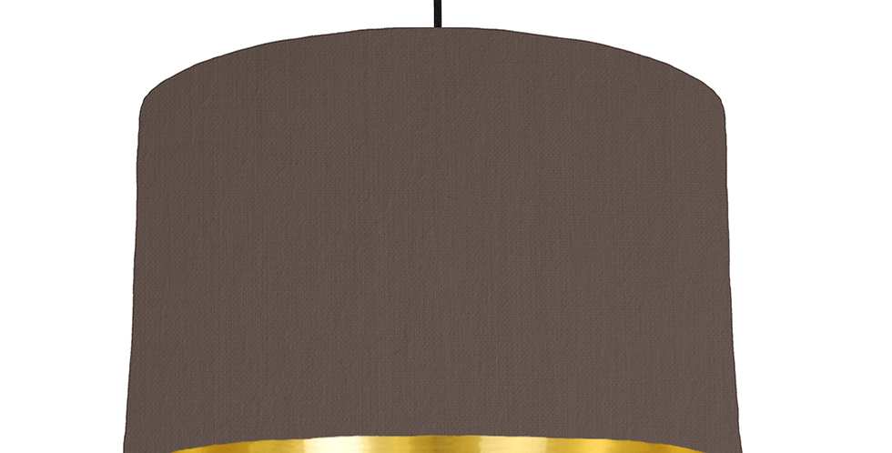 Brown & Gold Mirrored Lampshade - 40cm Wide