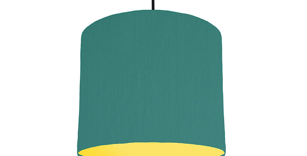 Jade & Butter Yellow Lampshade - 25cm Wide