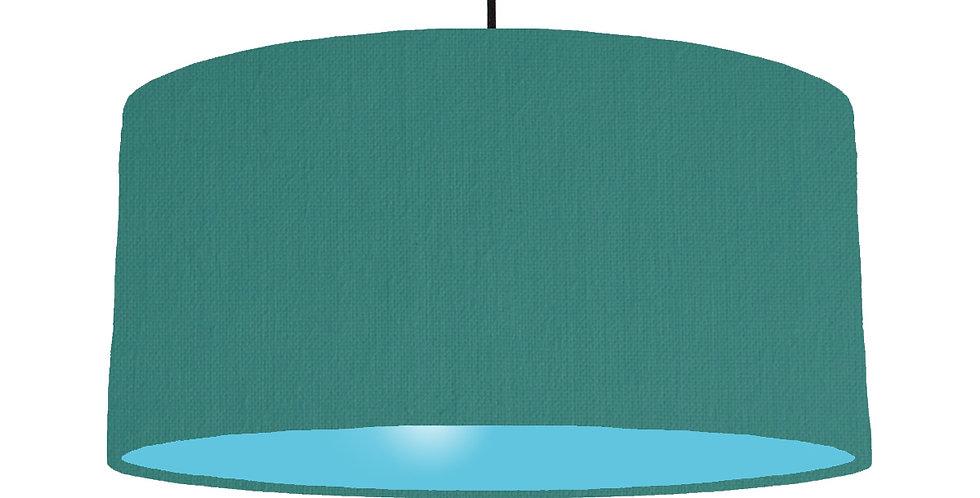 Jade & Light Blue Lampshade - 60cm Wide