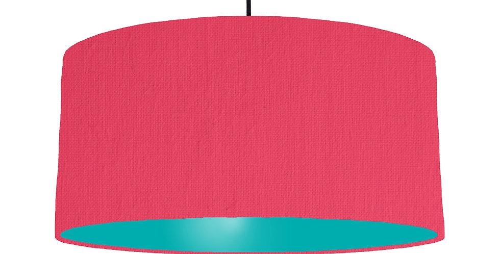 Cerise & Turquoise Lampshade - 60cm Wide