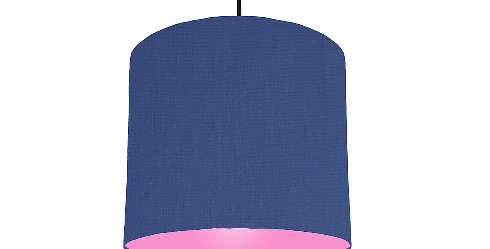 Royal Blue & Pink Lampshade - 25cm Wide