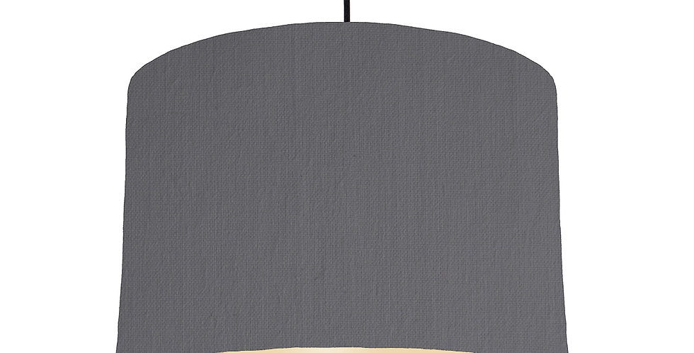 Dark Grey & Ivory Lampshade - 30cm Wide
